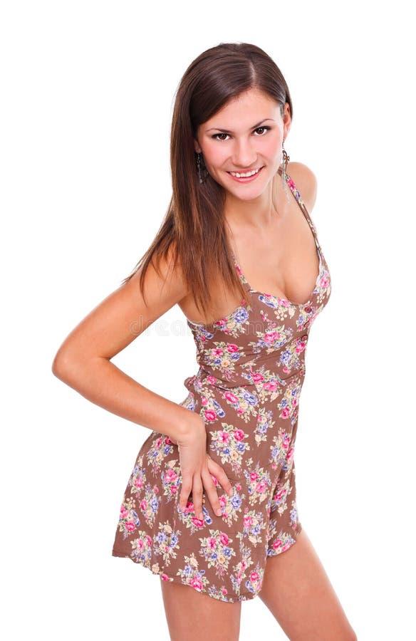 Atrakcyjna brunetki dziewczyna obrazy stock