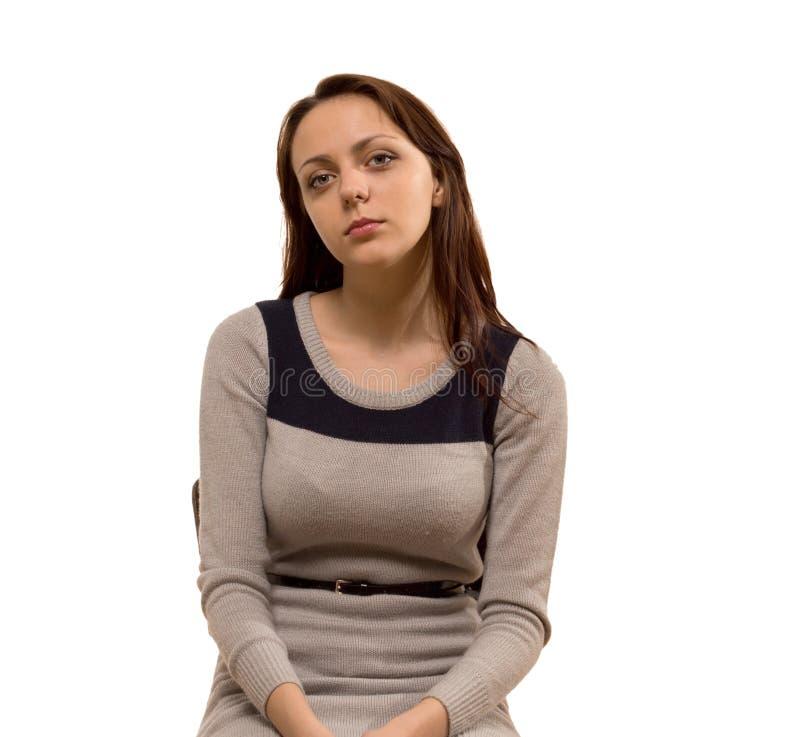 Atrakcyjna busty młoda kobieta zdjęcia royalty free