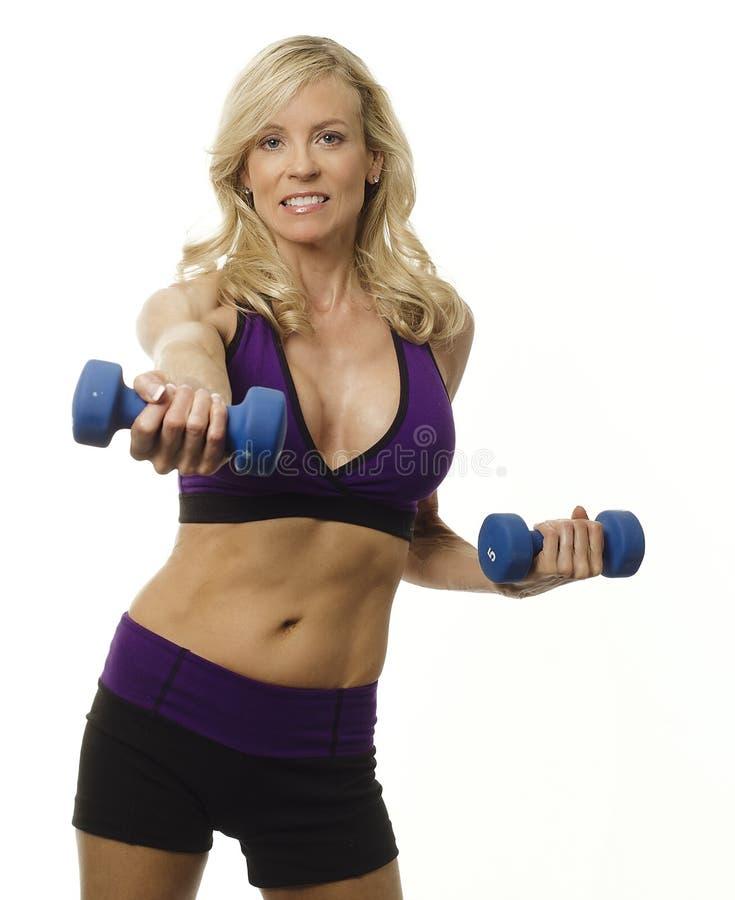 atrakcyjna dysponowana zdrowa kobieta zdjęcie stock