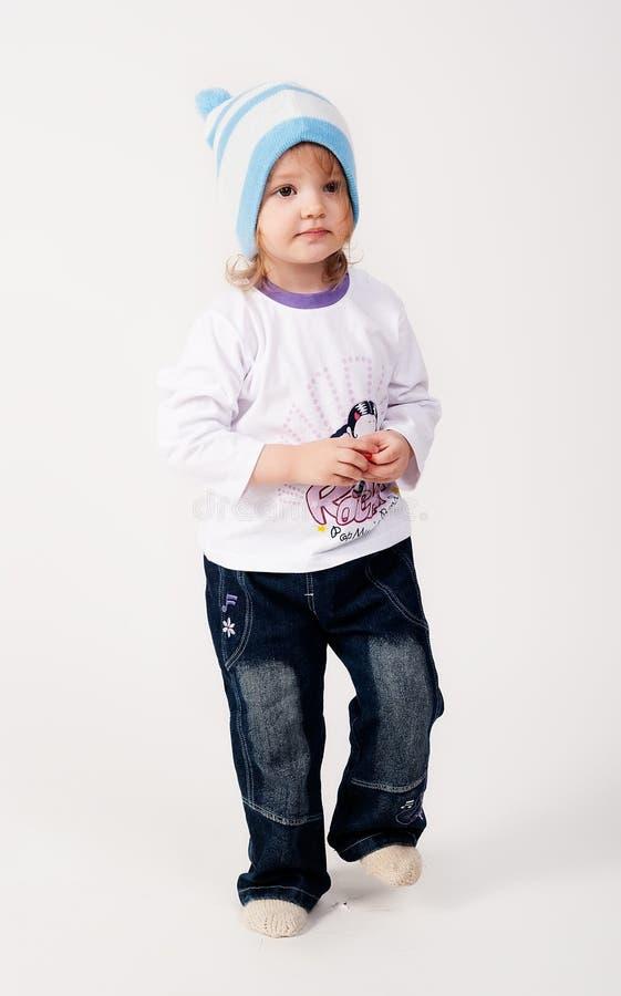 Atrakcyjna dziewczyna w kapeluszu fotografia stock