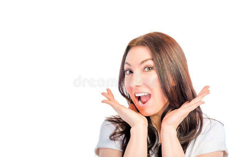 Atrakcyjna emocjonalna dziewczyna fotografia royalty free