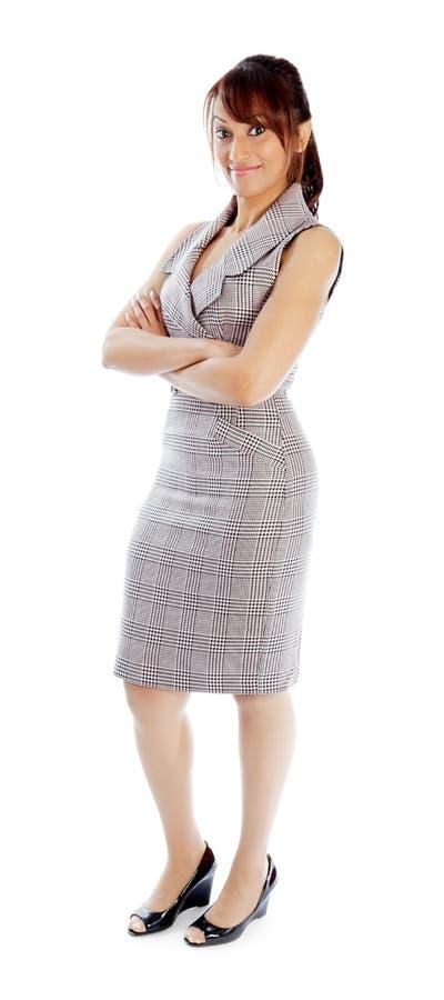 Download Atrakcyjna Indiańska Kobieta Odizolowywająca Na Białym Tle Zdjęcie Stock - Obraz złożonej z śliczny, hairball: 41952472