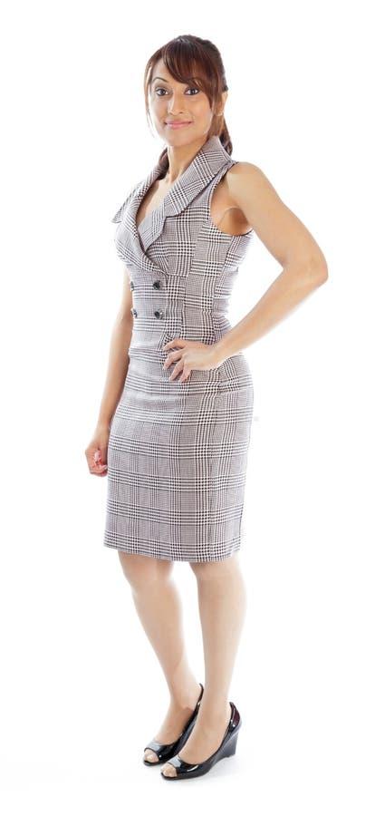 Download Atrakcyjna Indiańska Kobieta Odizolowywająca Na Białym Tle Zdjęcie Stock - Obraz złożonej z biznes, hairball: 41952482