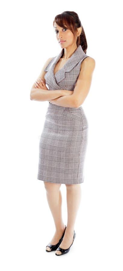 Download Atrakcyjna Indiańska Kobieta Odizolowywająca Na Białym Tle Obraz Stock - Obraz złożonej z śliczny, elegancja: 41952501
