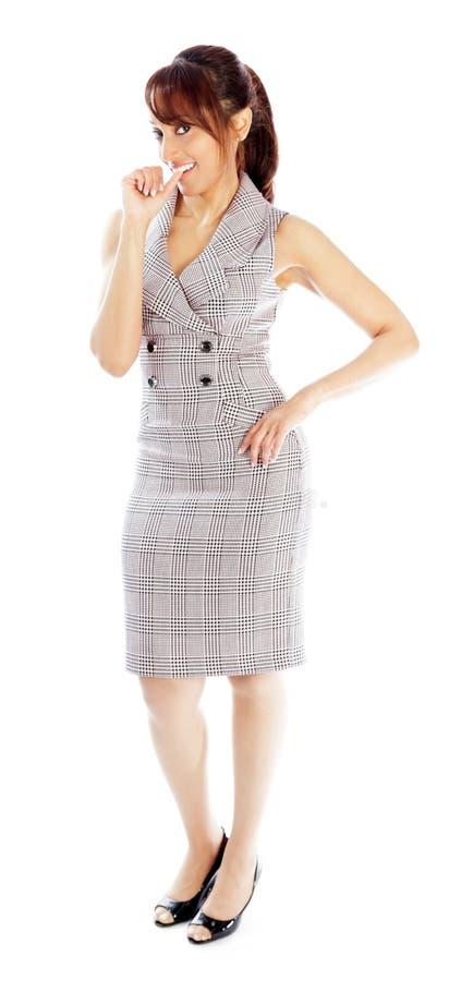 Download Atrakcyjna Indiańska Kobieta Odizolowywająca Na Białym Tle Obraz Stock - Obraz złożonej z śliczny, przestrzeń: 41952611