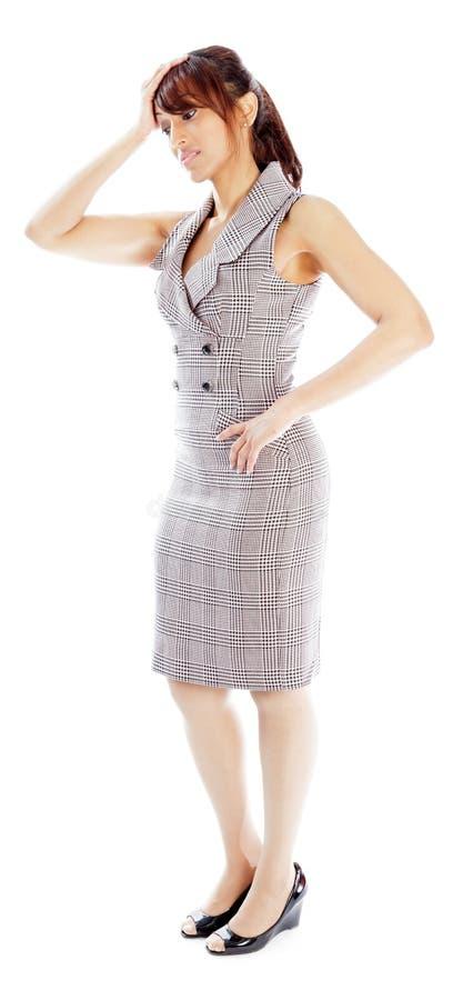 Download Atrakcyjna Indiańska Kobieta Odizolowywająca Na Białym Tle Zdjęcie Stock - Obraz złożonej z kobieta, kostium: 41952656