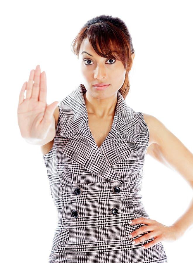 Download Atrakcyjna Indiańska Kobieta Odizolowywająca Na Białym Tle Obraz Stock - Obraz złożonej z powaga, zadumany: 41952675