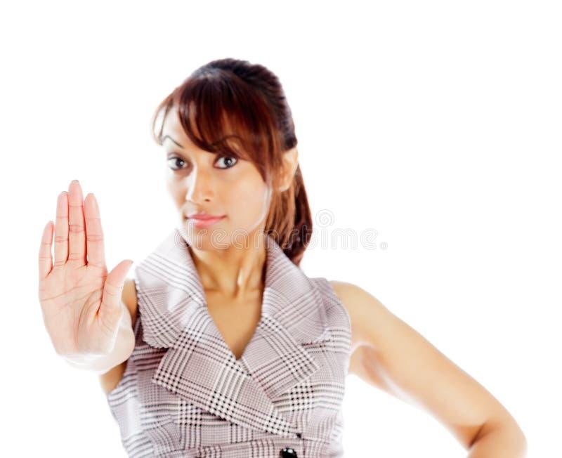 Download Atrakcyjna Indiańska Kobieta Odizolowywająca Na Białym Tle Obraz Stock - Obraz złożonej z bizneswoman, biznes: 41952683