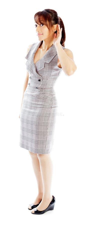 Download Atrakcyjna Indiańska Kobieta Odizolowywająca Na Białym Tle Zdjęcie Stock - Obraz złożonej z biznes, zadumany: 41952708