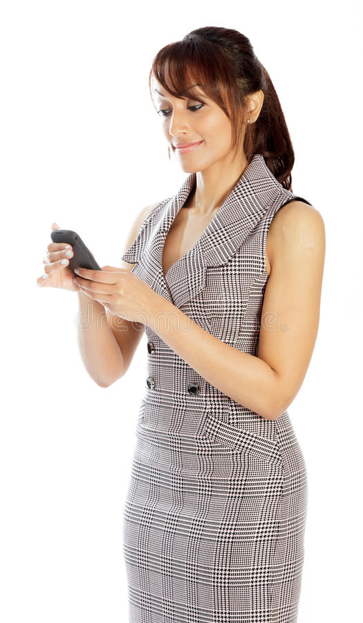 Download Atrakcyjna Indiańska Kobieta Odizolowywająca Na Białym Tle Obraz Stock - Obraz złożonej z dorosły, kopia: 41953055