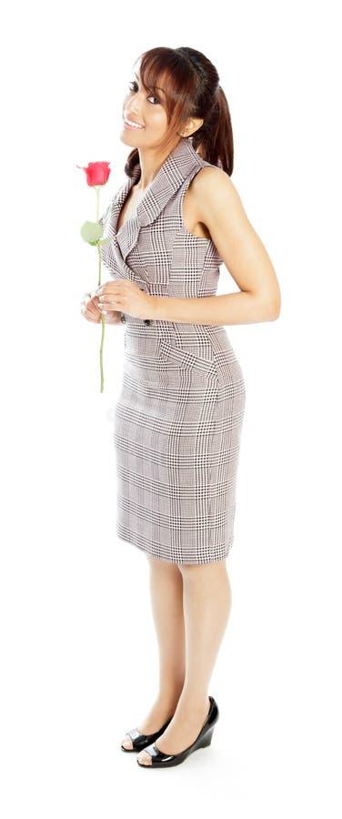 Download Atrakcyjna Indiańska Kobieta Odizolowywająca Na Białym Tle Obraz Stock - Obraz złożonej z positivity, elegancja: 41953065
