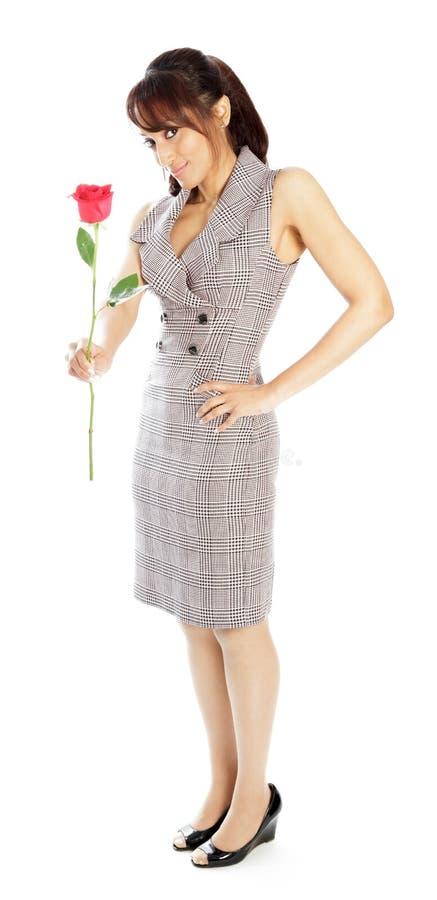 Download Atrakcyjna Indiańska Kobieta Odizolowywająca Na Białym Tle Obraz Stock - Obraz złożonej z folował, kostium: 41953071