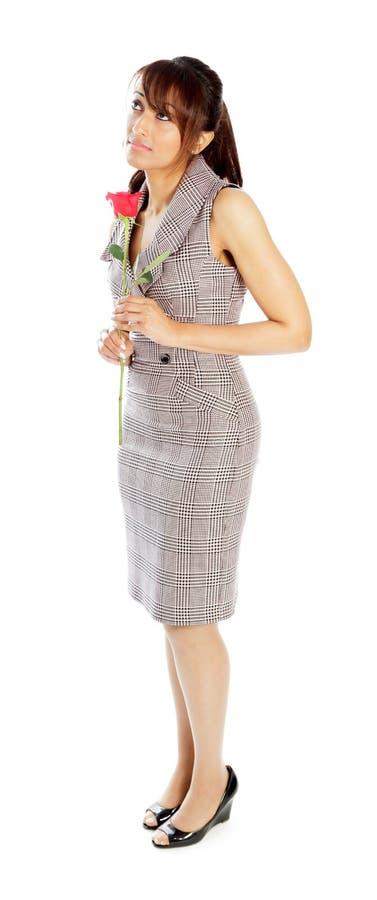 Download Atrakcyjna Indiańska Kobieta Odizolowywająca Na Białym Tle Obraz Stock - Obraz złożonej z azjata, biznes: 41953093