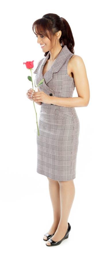 Download Atrakcyjna Indiańska Kobieta Odizolowywająca Na Białym Tle Obraz Stock - Obraz złożonej z śliczny, kopia: 41953097