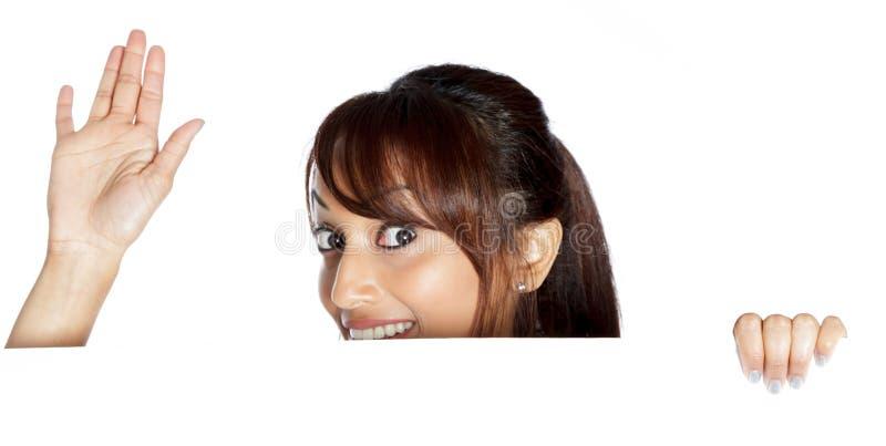 Download Atrakcyjna Indiańska Kobieta Odizolowywająca Na Białym Tle Zdjęcie Stock - Obraz złożonej z positivity, bizneswoman: 41953104