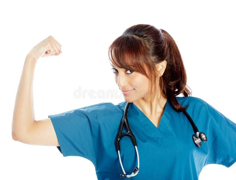 Download Atrakcyjna Indiańska Kobieta Odizolowywająca Na Białym Tle Obraz Stock - Obraz złożonej z odosobniony, medycyna: 41953269