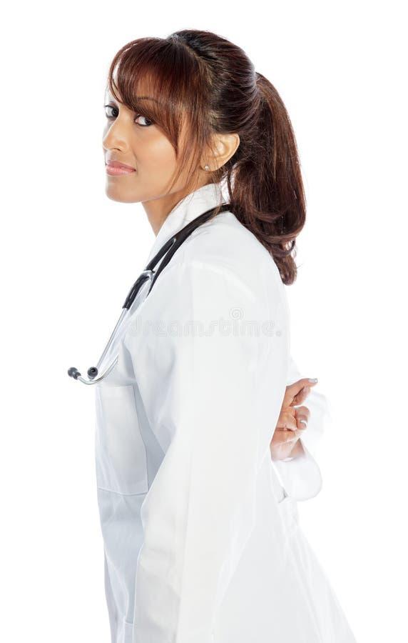Download Atrakcyjna Indiańska Kobieta Odizolowywająca Na Białym Tle Obraz Stock - Obraz złożonej z nadzieja, hindus: 41953325