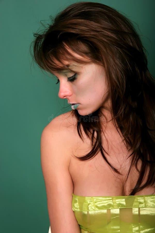 atrakcyjna jedwabnicza kobieta obrazy royalty free