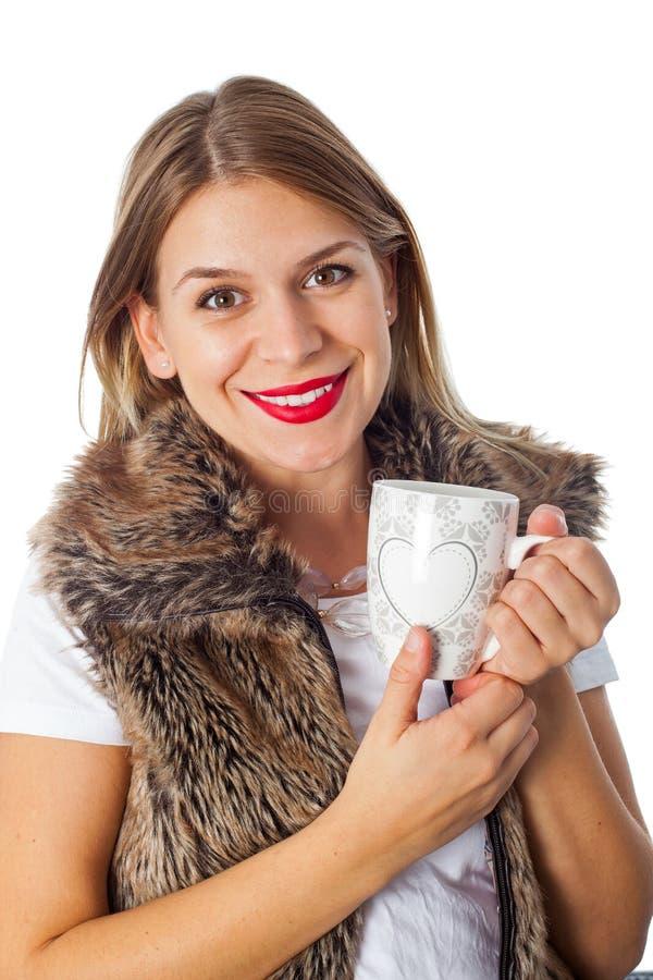 atrakcyjna kawowa target2098_0_ kobieta zdjęcie royalty free