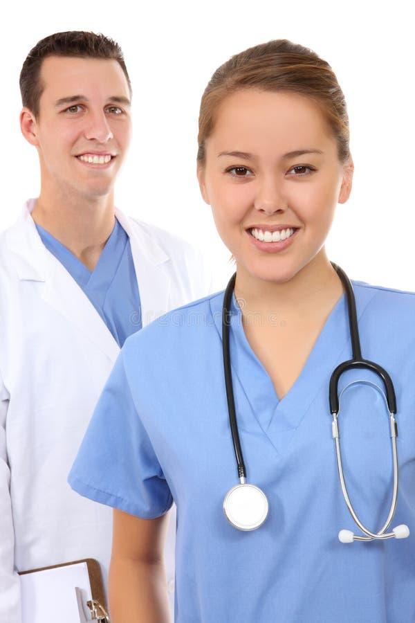 atrakcyjna mężczyzna zaopatrzenia medycznego kobieta obrazy stock