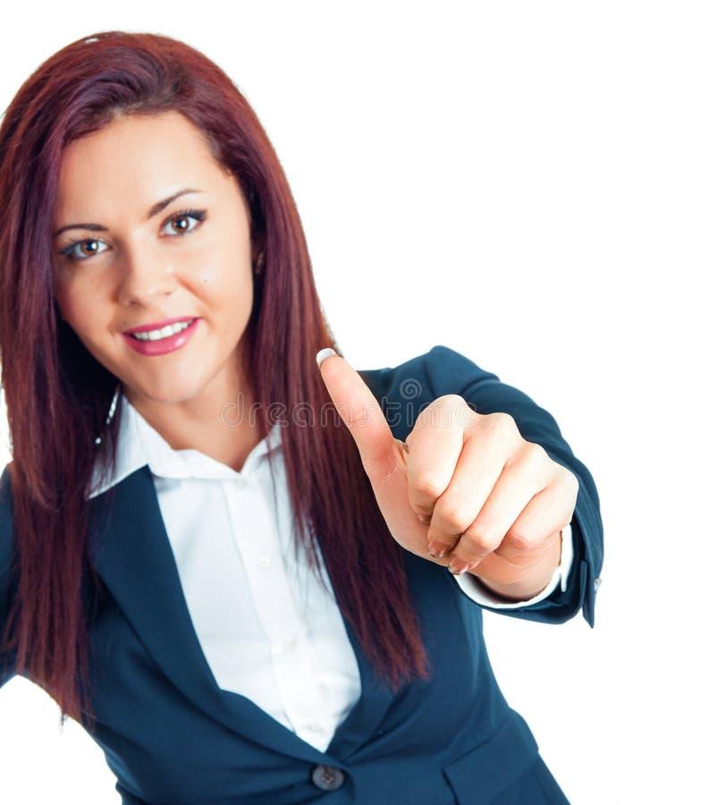 Atrakcyjna młoda biznesowa kobieta obrazy stock
