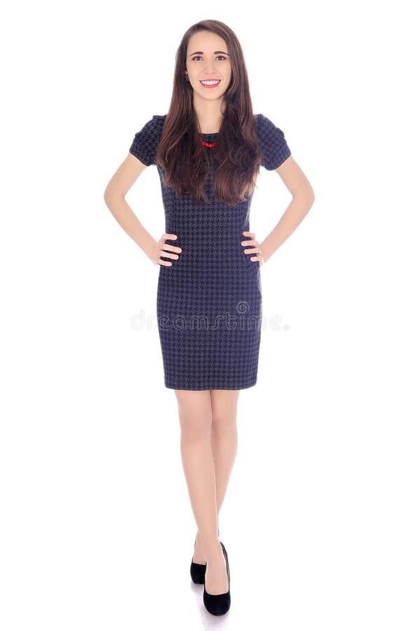 Atrakcyjna młoda kobieta w sukni i piętach zdjęcie royalty free