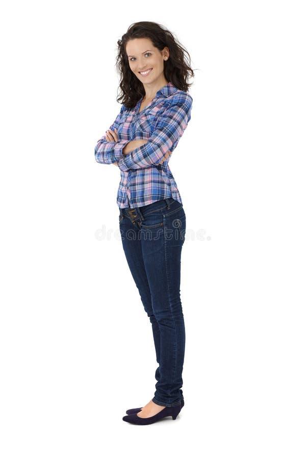 Atrakcyjna modna młoda kobieta obrazy stock