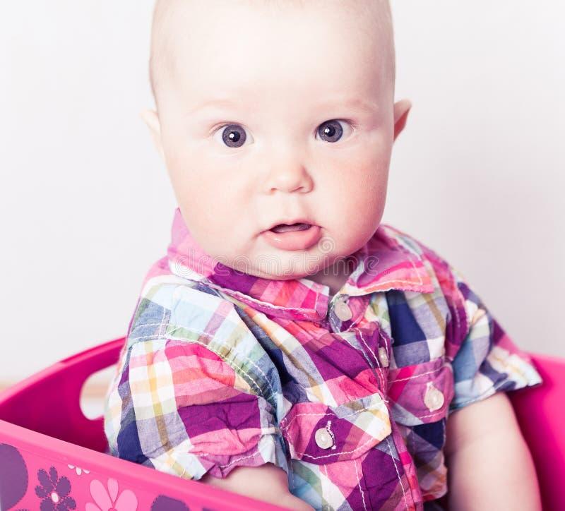 atrakcyjna niemowlęcia szkockiej kraty koszula obraz stock