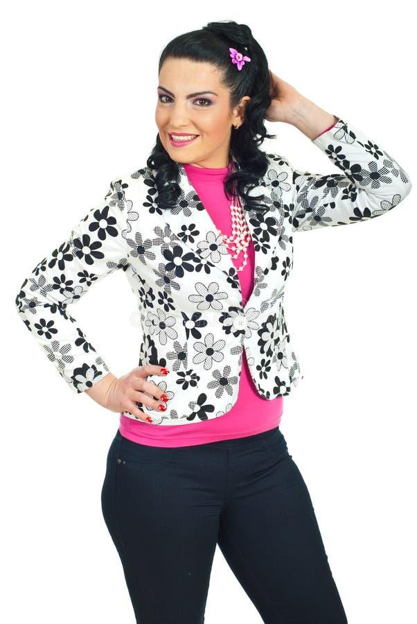 atrakcyjna odzieży modela wiosna kobieta fotografia stock