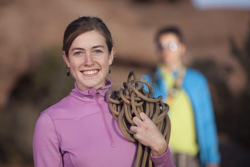atrakcyjna pięcia arkany kobieta fotografia royalty free