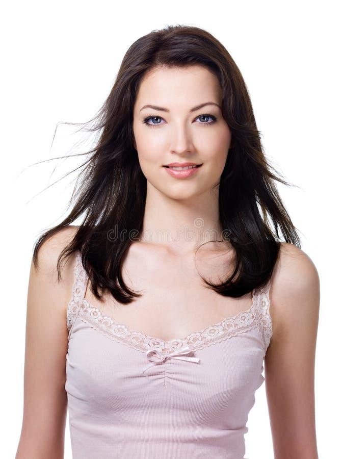 atrakcyjna portreta uśmiechu kobieta fotografia stock