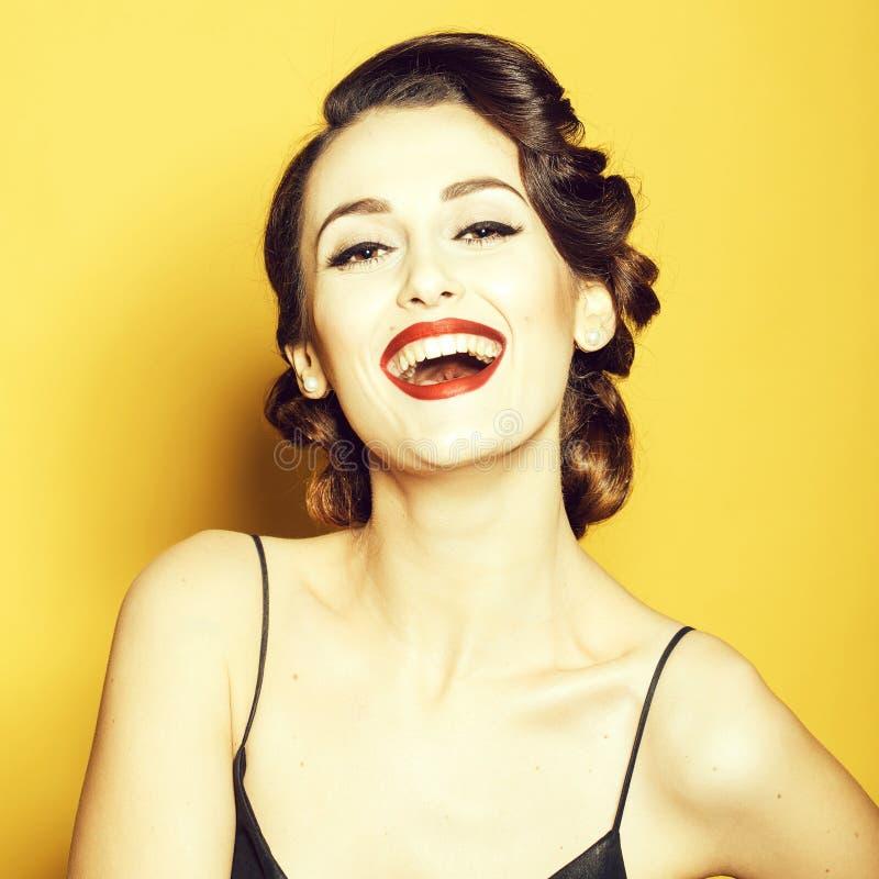 Atrakcyjna retro kobieta obraz stock