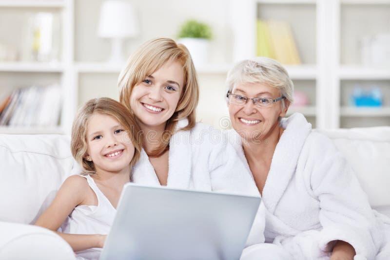 atrakcyjna rodzina obraz stock