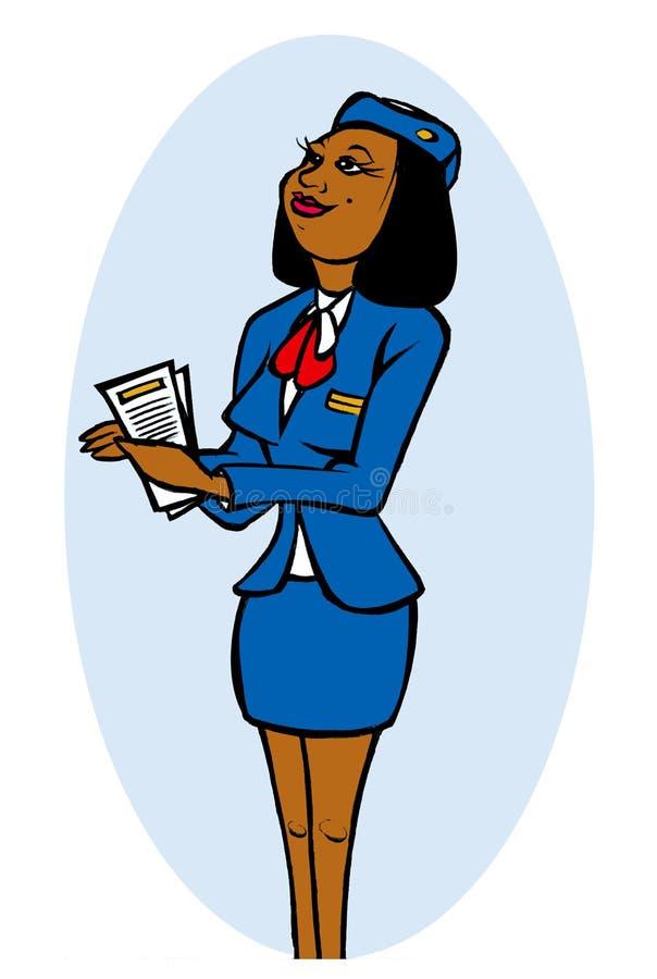atrakcyjna stewardesa ilustracji
