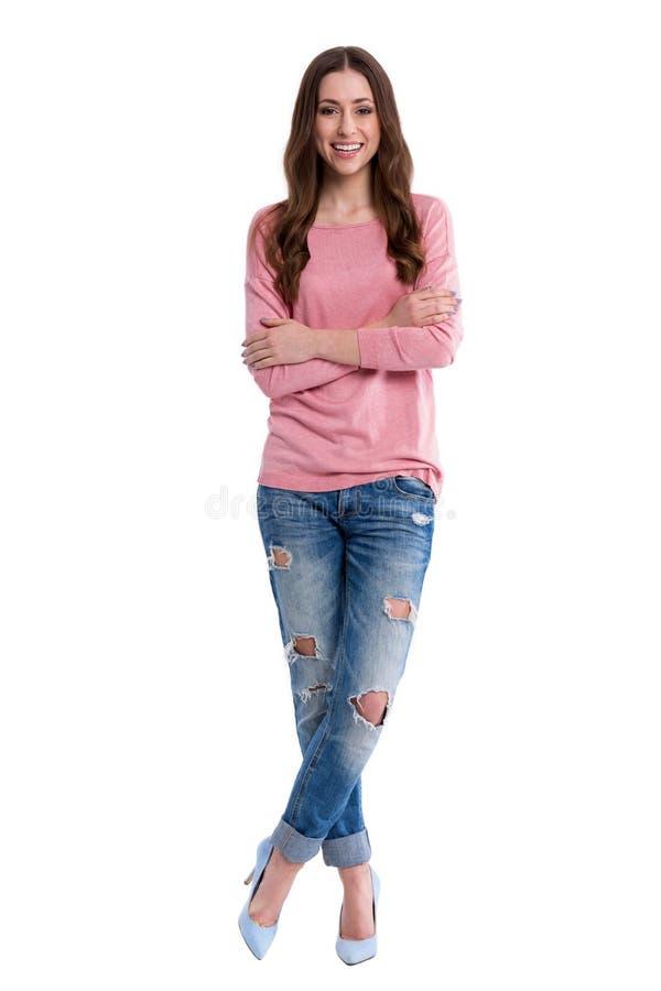 atrakcyjna trwanie kobieta zdjęcia stock