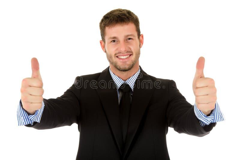 atrakcyjne biznesmena caucasian aprobaty zdjęcie royalty free