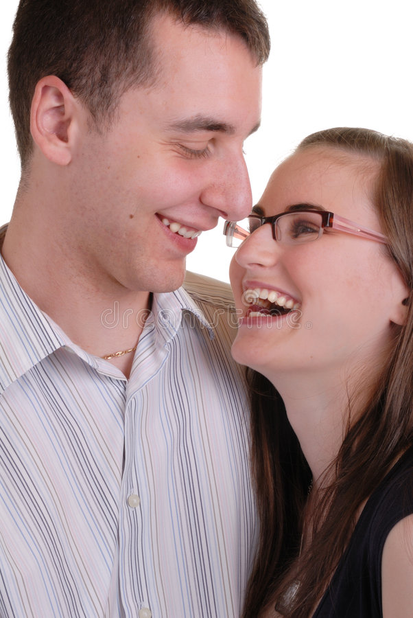 atrakcyjne czułą par młodych zdjęcie royalty free