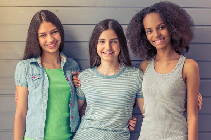 Atrakcyjne nastoletnie dziewczyny fotografia royalty free