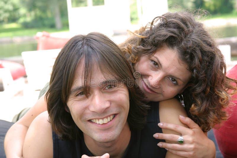 atrakcyjne par młodych fotografia royalty free