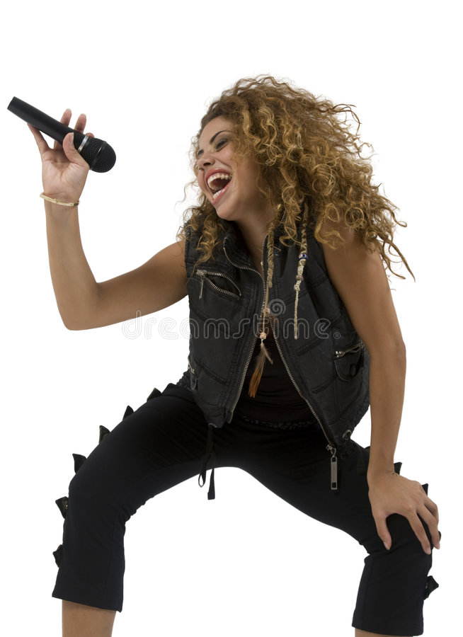 atrakcyjne piosenkarzy young obraz stock