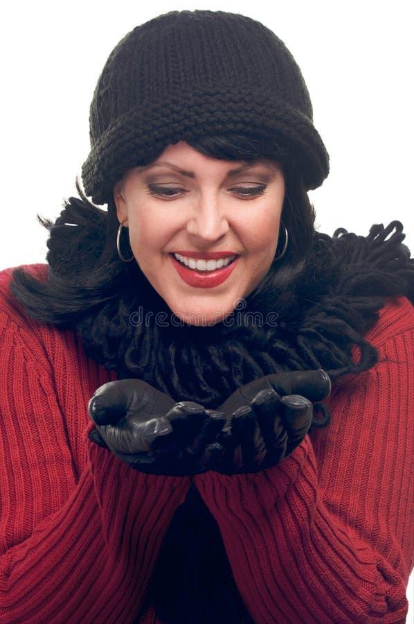 atrakcyjne ręki jej chwytów jej kobieta fotografia royalty free
