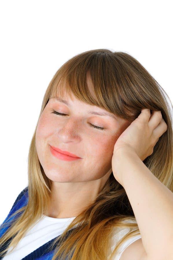 atrakcyjnego dziewczyny portreta ładni uśmiechnięci potomstwa obrazy stock
