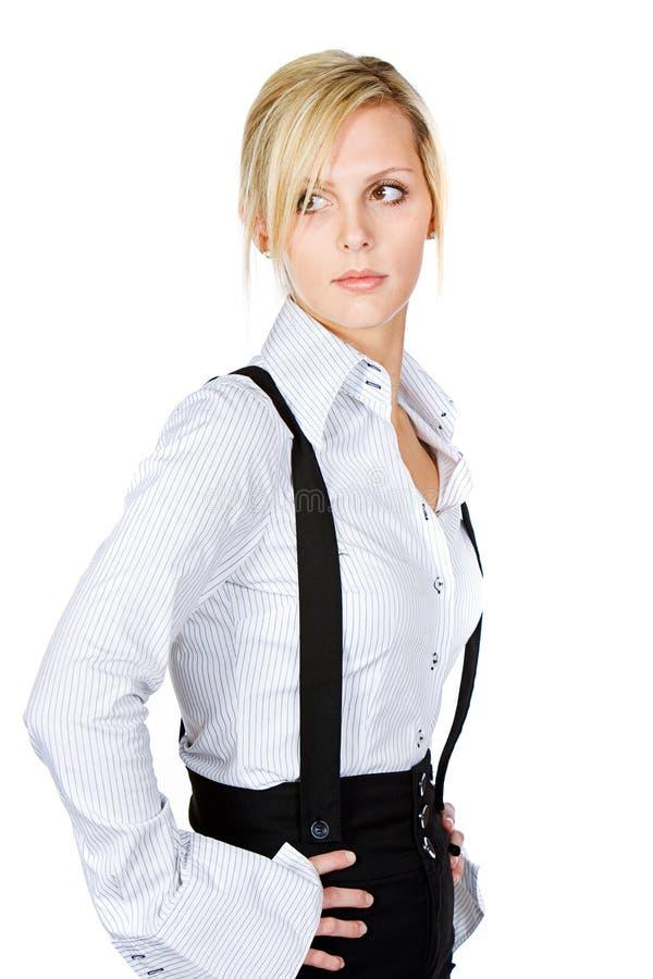 atrakcyjnej blondynki biznesowa kobieta zdjęcie royalty free