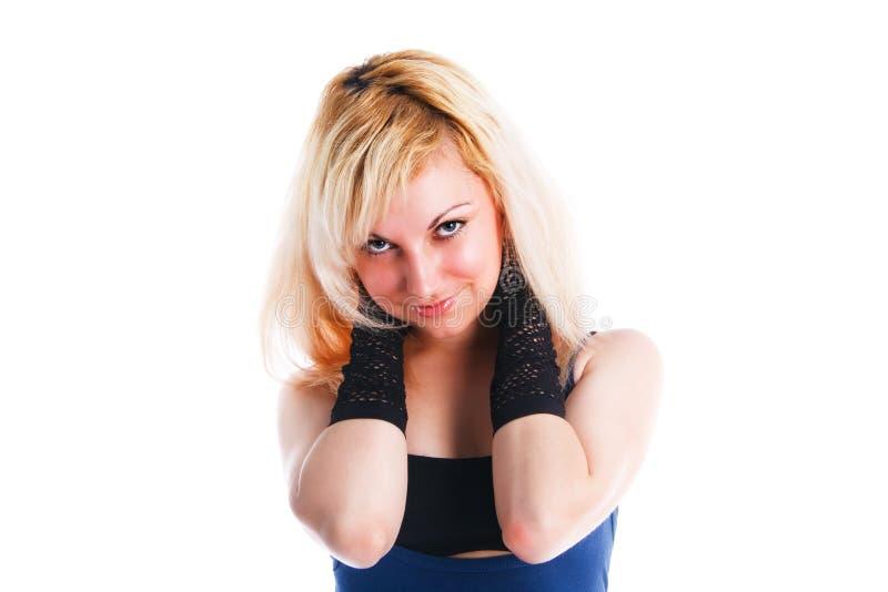 Download Atrakcyjnej Dziewczyny Uśmiechnięci Potomstwa Obraz Stock - Obraz złożonej z zaufanie, długi: 13331643