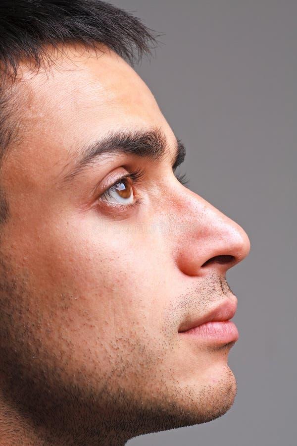 atrakcyjni mężczyzna portreta profilu potomstwa obrazy royalty free