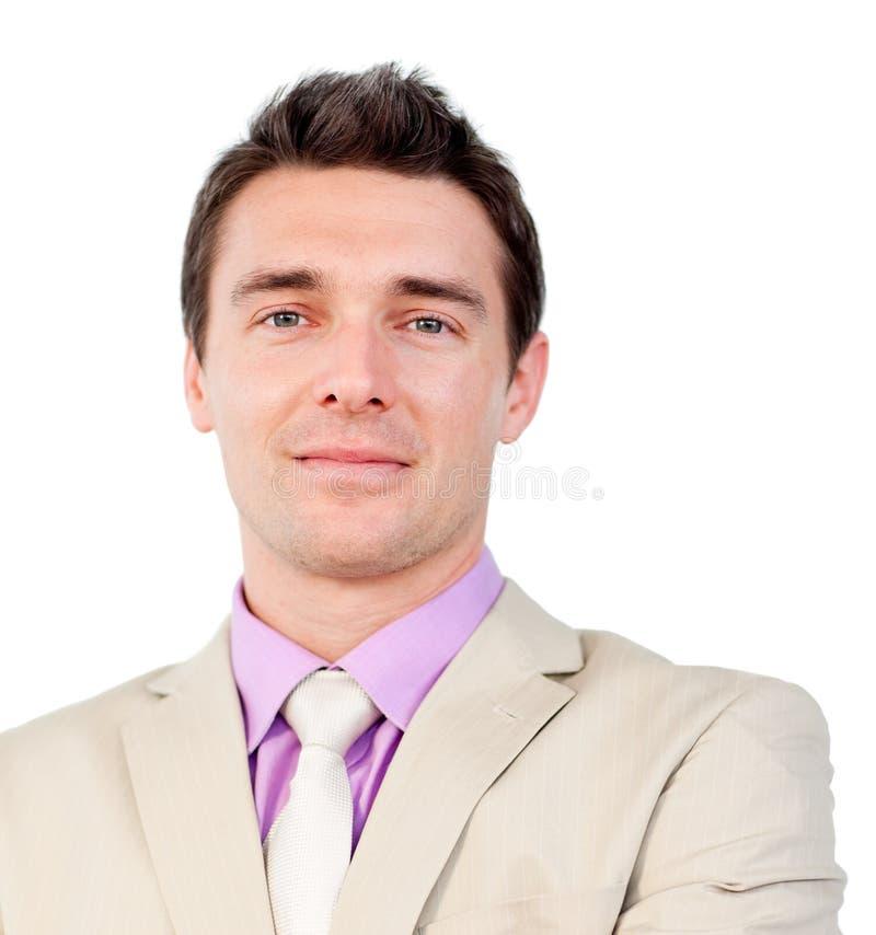 atrakcyjny biznesmena atrakcyjny zakończenie obraz stock