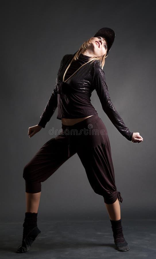 atrakcyjny blond dancingowy svelte zdjęcia royalty free