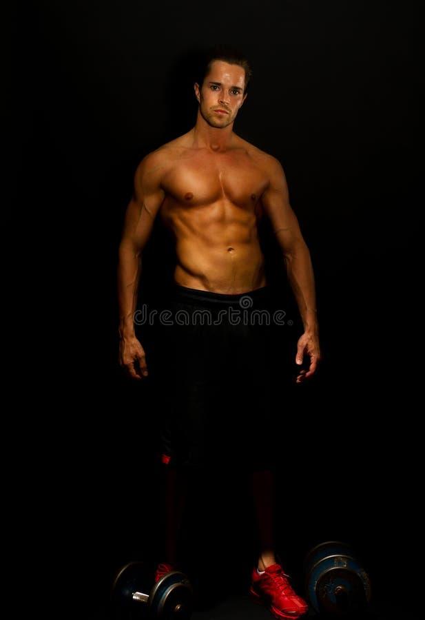 Atrakcyjny dysponowany mężczyzna obraz stock