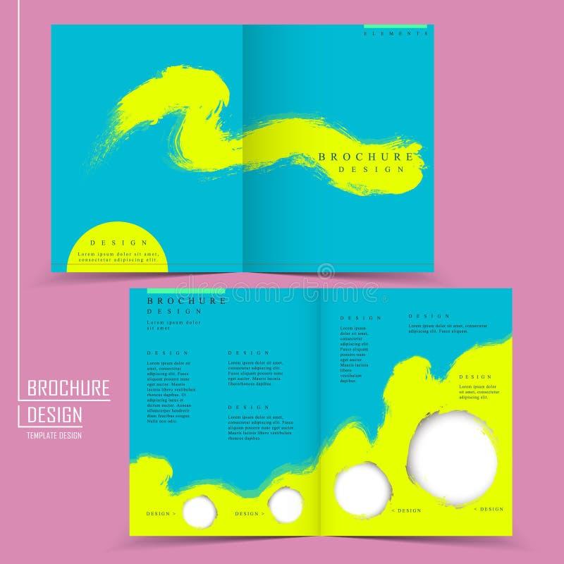 Atrakcyjny fałdu szablonu projekt ilustracja wektor