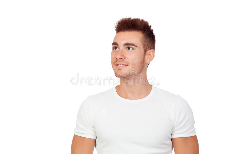 Atrakcyjny facet z spiky włosy obrazy stock
